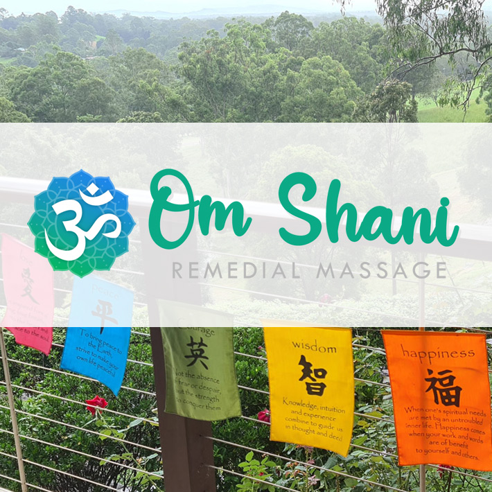 Small design for Om-Shani business at Cooroy